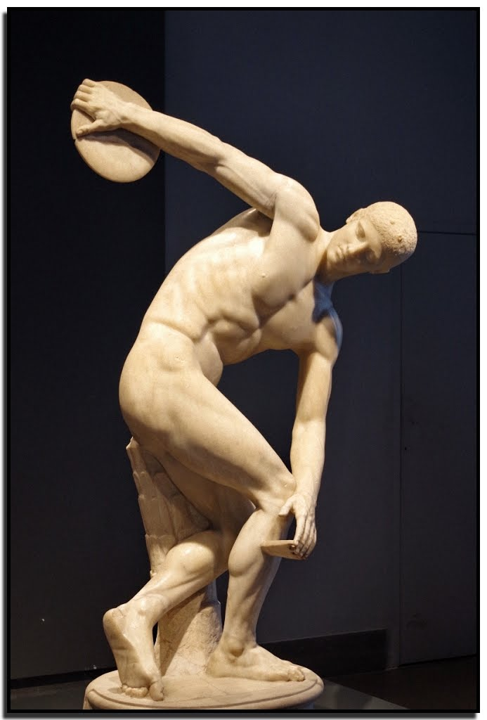 personal development exemplified in statue of olympian discus thrower
